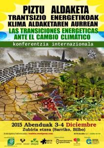 Cartel de unas jornadas sobre la Transición Energética en Euskal Herria, en las que participó Sustrai Erakuntza.