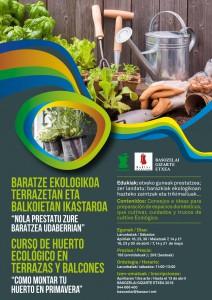 """[:es]CURSO """" Un huerto ecológico en tu balcón""""[:eu]IKASTAROA: """"BARATZE EKOLOGIKOA ZURE BALKOIAN""""[:] @ Basozelai Gizarte Etxea   Basauri   País Vasco   España"""