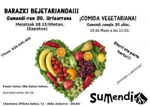 [:es]Comida vegetariana: 30 aniversariod e Sumendi[:eu]Bazkari begetarianoa: Sumendiren 30.urteurrena[:]
