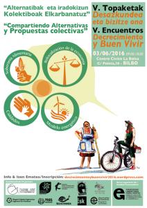 [:es]V Encuentros: Decrecimiento y Buen Vivir[:eu]V. Topaketak: Desazkundea eta Bizitze Ona[:] @ Centro Cívico La Bolsa | Bilbao | Euskadi | España
