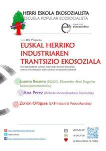 [:es]Escuela Popular Ecosocialista[:eu]Herri Eskola Ekosozialista[:] @ La Bolsa, pelota kalea 10. Bilbo