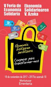 [:es]V Feria de Economía Solidaria - 18 de noviembre de 2017 - Errenteria[:eu]Ekonomia Solidarioaren V. Azoka - 2017ko Azaroaren 18an - Errenteria[:] @ Errenteriako Merkatuzar
