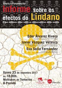 [:es]Charla: Informe sobre los efectos del lindano[:eu]Hitzaldia: Los efectos del lindano[:] @ Sala Multiusos de Torneiro, O Porriño