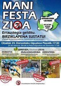 [:es]Manifestación: en contra de la incineradora y a favor del reciclaje[:eu] Manifestazioa: Erraustegia gelditu, berziklapena sustatu[:] @ Gipuzkoa Plaza, Donostia, 17:30
