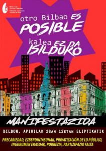 [:es]Manifestación: Otro BIlbao es posibe![:eu]Manifestazioa: Kalea ez da isilduko![:] @ Plaza Eliptika, Bilbao
