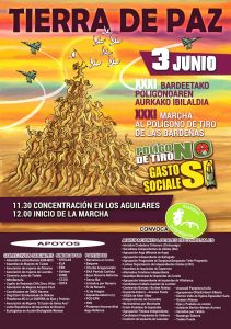 [:es] XXXI Marcha contra el Polígono de tiro de las Bardenas Reales[:eu]Bardenas tiro zelaiaren kontrako XXXI. Martxa[:] @ Bardenak