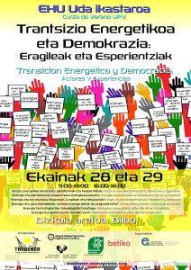 [:es]Curso de Verano: Transición energética y democracia[:eu]Uda Ikastaroa: Trantsizio energetikoa eta demokrazia[:] @ Bizkaia Aretoa -  Abandoibarra etorbidea, 3 48009 Bilbao