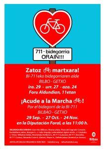 Bizi Martxa! 711 Bidegorria orain! @ Foru Aldundian - Diputación Foral