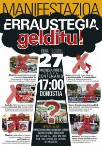 [:es]Manifestación: ¡No a la incineradora![:eu]Manifestazioa: Erraustegia gelditu![:] @ Mendeurren plaza Centenario (Donostia)