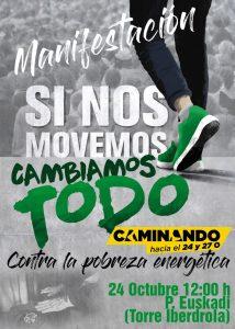 [:es]Manifestación | Si nos movemos cambiamos todo[:eu]Manifestazioa | Mugitzen bagara dena aldatuko dugu[:] @ Plaza Euskadi (Iberdrola), Bilbo