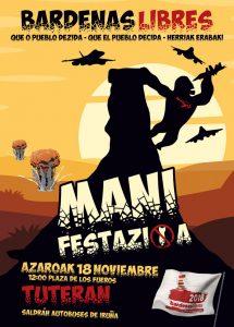 [:es]Manifestación | Bardenas libres[:eu]Manifestazioa | Bardenas libres[:] @ Foruen Plaza, Tutera, Nafarroa