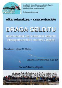 [:es]Concentración | Draga gelditu![:eu]Elkarretaratzea | Draga gelditu![:] @ Algortako Portu Zaharra