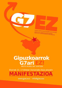 [:es]Manifestación G7 NO! [:eu]Manifestazioa G7Ez! [:] @ EASO PLAZA