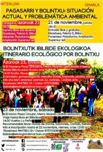 [:es]Charla (Bilbao): Pagasarri y Bolintxu: situación ambiental y problemática ambiental[:eu]Hitzaldia (Bilbo): Pagasarri y Bolintxu: situación ambiental y problemática ambiental[:]