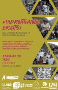 """[:es]Charla:  """"Demoler Hidroituango - BBVA y el proyecto hidroeléctrico más grande de Colombia"""" [:eu]Hitzaldia: """"#Hidroituango Eraitsi - BBVA eta Kolonbiako proiektu hidroelektriko handiena""""[:] @ Ekoetxean (Pilota k 5, Bilbo)"""