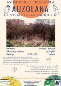 [:es]Auzolana (Astrabudua): Limpieza del humedal de Astrabudua[:eu]Auzolana (Astrabudua): Astrabuduko hezegunearen garbiketa[:] @ Parking Lidl