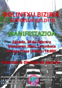 [:es]Manifestación (Bilbao): Bolintxu bizirik! Supersur gelditu! estamos a tiempo de pararlo[:eu]Manifestazioa (Bilbo): Bolintxu bizirik! Supersur gelditu! estamos a tiempo de pararlo[:]