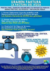 [:es]Jornada (Deusto): La factura del agua[:eu]Jardunaldia (Deustu): Uraren faktura[:] @ Centro Municipal Deusto