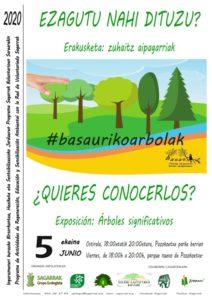 "[:es] Exposición ""Árboles significativos de Basauri"" en el parque nuevo de Pozokoetxe[:eu]""Basauriko zuhaitz aipagarriak"" erakusketa Pozokoetxeko parke berrian[:]"