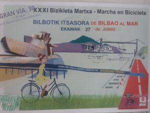 """XXXI.  Bizi Martxa """"Bilbotik Itsasora"""" @ Gran Via 30, frente Diputación (Bilbao)"""