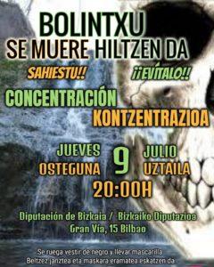 [:es]Concentración (Bilbao): Convocatoria al entierro de Bolintxu[:eu]Konzentrazioa (Bilbo): Bolintxu hiletarako deialdia[:] @ Palacio de la Diputación foral de Bizkaia