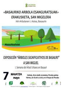 """[:es]Exposición (San Miguel): """"Árboles significativos de Basauri"""". Iª Semana del Árbol Urbano[:eu]Erakusketa (San Migel): «Basauriko arbola esanguratsuak». Hiri-Arbolaren I.Astea[:]"""