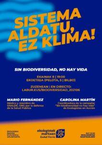 [:es]Charla (Bilbao / online): Sin biodiversidad, no hay vida[:eu]Hitzaldia (Bilbo / online): Sin biodiversidad, no hay vida[:] @ Ekoetxea
