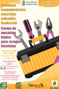 [:es]Curso de Mecánica básica para arreglar bicicletas del 22 al 24 de junio[:eu]Bizikleta konponketarako oinarrizko mekanika ikastaroa[:]