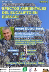 [:es]Charla (Bilbao): Efectos ambientales del eucalipto en Euskadi[:eu]Hitzaldia (Bilbo): Efectos ambientales del eucalipto en Euskadi[:] @ Ekoetxea
