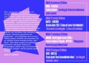 [:es]Charla (Bilbao): Lynn Margulis zientzialari ederra[:eu]Hitzaldia (Bilbao): Lynn Margulis zientzialari ederra[:] @ Ekoetxea